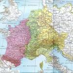 Le Partage de l'Empire carolingien au Traité de Verdun/De opdeling van het Karolingische Rijk bij het verdrag van Verdun (843)