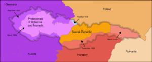 La partition de la Czéchoslovaquie - de opdeling van Tsjechoslovakije (1938)