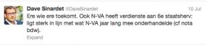 """De politicoloog Dave Sinardet: staatshervorming ook """"verdienste"""" N-VA - Le politologue Dave Sinardet: la """"réforme"""" de l"""