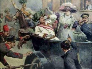 Gavrilo Princip pleegt zijn moordaanslag in Sarajevo op 28 juni 1914 - Gavrilo Princip commet son assassinat à Sarajevo le 28 juin 1914