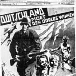 """""""Duitsland moet de oorlog winnen"""" (bron: De Nationaalsocialist, weekblad van het flamingantische VNV dat tijdens de oorlog collaboreerde) - """"l"""
