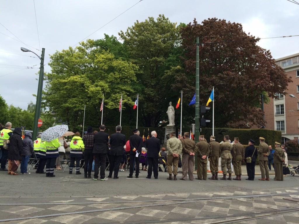 Herdenking van de bevrijding in Jette, Brabant - Commémoration de la libération à Jette dans le Brabant, 09.05.2015 (foto, photo B.U.B.)