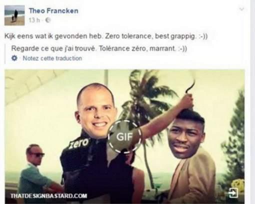 Francken se moque d'un Noir sur Twitter - Francken lacht met een zwarte op Twitter