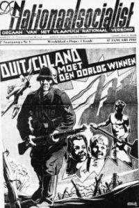 """""""Duitsland moet de oorlog winnen"""" (bron: De Nationaalsocialist, weekblad van het flamingantische VNV dat tijdens de oorlog collaboreerde) – """"l'Allemagne doit gagner la guerre"""" (source: de Nationaalsocialist, hebdomadaire du VNV flamingant qui collaborait pendant la guerre)"""