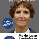 """Marie-Luce Lovinfosse, lijsttrekker B.U.B. in """"Vlaams""""-Brabant (westelijk district). Marie-Luce Lovinfosse, tête de liste en Brabant """"flamand"""" (partie occidentale); Photo - foto B.U.B."""