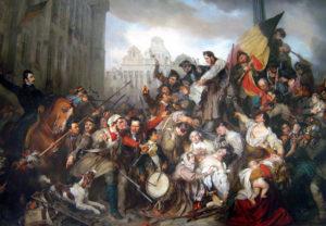 Schilderij van Gustaaf Wappers over de Belgische Revolutie - Peinture de Gustave Wappers sur la Révolution belge (1835); Koninklijke Musea van Schone Kunsten van België; Musées royaux des Beaux-Arts de Belgique; Bron: Wikipedia